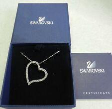 Signed Swarovski Love Pendant Heart Necklace 661034 In Box