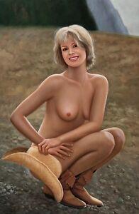 Nude,Original Oil Painting by P. Hays,91 x 61 cm