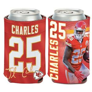 Kansas City Chiefs Wincraft #25 Jamaal Charles 12oz Can Coolie FREE SHIP