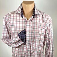 Bristol & Bull L Shirt Mens Long Sleeve Reversable Cuffs Cotton Size Large