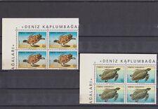 TURKEY 1989, SEA TURTLES, BLOCK OF 4, MNH