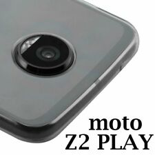 MOTOROLA MOTO Z2 PLAY - Transparent Clear Slim TPU Rubber Skin Phone Case Cover