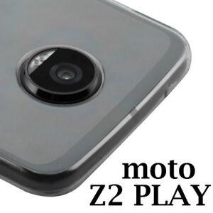 MOTOROLA MOTO Z2 PLAY - Transparent Clear Slim TPU Rubber Skin Phone Case Cover