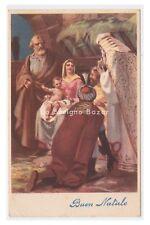 1950 cartolina augurale Natale Natività Re Magi Sacra Famiglia Nativity