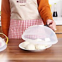 Food Splatter Guard Microwave Hover Anti-Sputtering Cover with Steam Vents