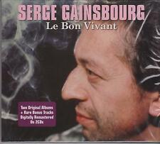 SERGE GAINSBOURG - LE BON VIVANT on 2 CD's - NEW -