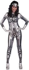 Roboter metallisch # Overall Damen Mechanische Silber Fach Kostüm