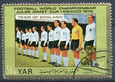 TIMBRE FOOTBALL COUPE DU MONDE MEXIQUE 1970 EQUIPE D ANGLETERRE