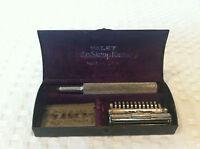 Antique 1912 VALET AUTOSTROP Open Comb Safety Shaving Razor w/ Blades & Case