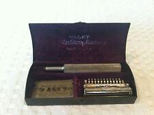 Antique 1912 VALET AUTOSTROP Open Comb Safety Razor with blades in original case