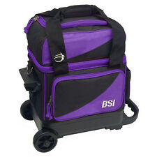 BSI Black/Purple 1 Ball Roller Bowling Bag