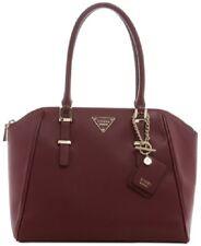 NWT ❤️ Guess Marisole Uptown Satchel Bordeaux Wine Large Handbag MSRP $128