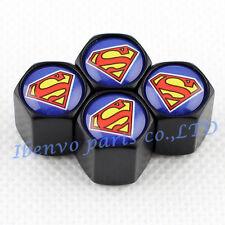 Black Styling Metal Car Wheel Tyre Tire Stem Air Valve Cap For Superman Racing