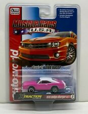 Auto World Muscle Cars Usa 1970 Dodge Charger R/T Pink 1:64 Ho Slot Car Sc354-2P