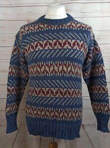 St Michael 100% Pure New Wool Icelandic/Fair Isle Style Sweater Small