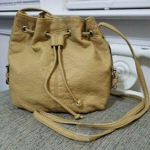 Candie's Small Crossbody Bucket Bag Taupe Tan Purse Handbag Tan Lined NWT