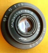 Industar 50-2 50mm F/3.5 KMZ Manual Portrait lens from USSR with M42 lens mount.