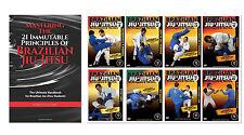Brazilian Jiu-Jitsu Instructional Book and 8 DVD Set - Free Shipping