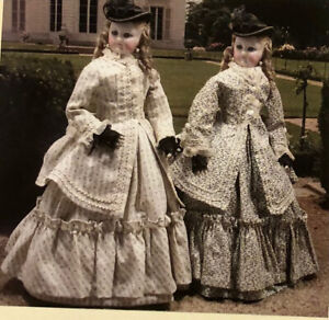 """15"""" FRENCH FASHION DOLL SUMMER TUNIQUE  COSTUME PATTERN + ARTICLE S.Mac Neil"""