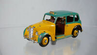 Rare Vintage 1960s Dinky Meccano Austin Taxi 40H Yellow Toy Car With Driver