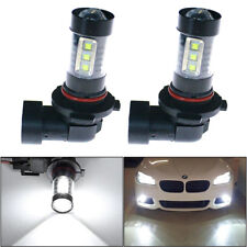 2x New 6000K White 160W LED H10 9145 Projector High Power Fog Driving Light Bulb