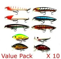 Fishing Lures Hardbody Bulk Lure packs Minnows Crankbaits 36 different lures ...