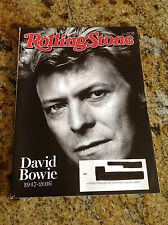 "ROLLING STONE MAGAZINE FEATURING DAVID BOWIE ""1947-2016"""