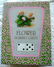 Victorian  Botanical Flower Cards Domino Parlor Game Playing Cards  NEW