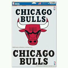 "CHICAGO BULLS 2 PIECE MULTI-USE DECAL SHEET 11""X17"" CAR WINDOW"