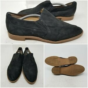 Franco Sarto Studio Black Suede Flats Slip On Pointed Toe Shoes Women's Size 7 M