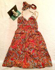 Anthropologie Silk MultiColor Racerback MOULINETTE SOEURS Paisley Floral Dress 0