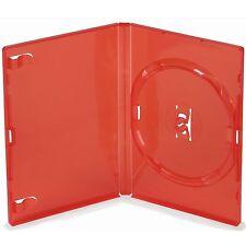 200 unico standard RED DVD Case 14 MM SPINE NUOVO VUOTO RICAMBIO COPERTURA Amaray