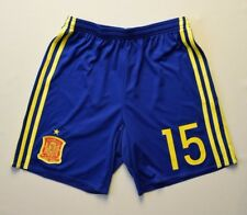 Spain Shorts Size 13-14 y Youth Blue Football Soccer Adidas AA0845 ig93