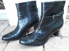 8bbef124846020 Leder-Budapester Damenstiefel   -Stiefeletten mit hohem Absatz (5-8 ...
