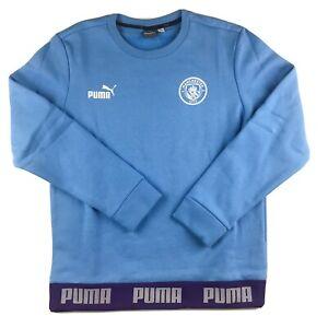 Puma Manchester City Football Culture Sweatshirt Soccer Shirt Blue Men's Medium