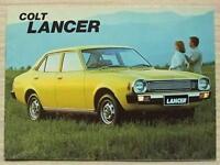 MITSUBISHI COLT LANCER Car Sales Brochure Jan 1978 #H7443 1200 SUPER 1400GL ++