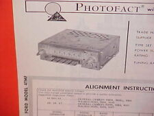 1964 FORD CUSTOM GALAXIE 500XL CONVERTIBLE CLUB VICTORIA AM RADIO SERVICE MANUAL