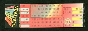 A concert ticket- The Replacements 9/23/84 - full ticket mint