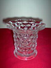 "Fostoria American Crystal 5 1/4"" Short Flared Vase - MINT w/ BONUS F. A. Cordial"
