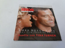 "EROS RAMAZZOTTI & TINA TURNER ""COSE DELLA VITA"" CD SINGLE 2 TRACKS"