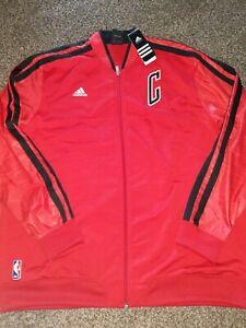 Adidas Warm Up Jacket Chicaco BULLS Mens Size 2XL Basketball NWT Red & Black