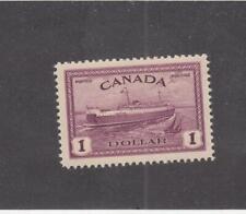 CANADA (MK3451) # 273  VF-MH  $1 1946 PEI TRAIN FERRY /RED VIOLET CAT VALUE $55