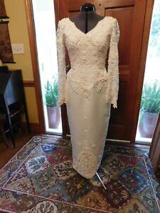 90/'s Vintage Wedding Dress wedding dress from the 1990/'s \u2013 Romantic bridal gown Off shoulder dress A line wedding dress