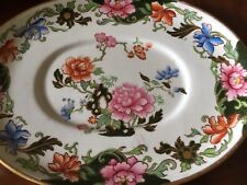 Late Spode Copeland Harrods 5976 oval saucer plate 20x15 cm chinoiserie
