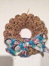8 inch solid birdseed Seasons wreath with box. NEW- NIB. 100%  Made in America