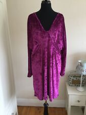 Asos Curve Ladies Velvety Short Dress Or Tunic Size 20 BNWT Pink Plus Plunge Top