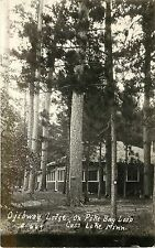 RPPC Postcard Ojibway Lodge on Pike Bay Loop, Cass Lake MN C-664 Unposted