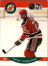 1990-91 PRO SET HOCKEY PATRIK SUNDSTROM ERROR STASTNY PHOTO ON FRONT CARD #176