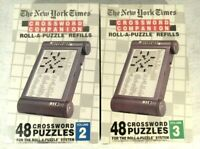 Crossword Companion Vol 2 & 3 New York Times Roll A Puzzle Lot Set Refill NEW