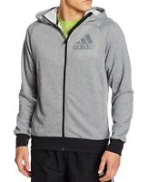 Mens Adidas Hoodie Zip Jacket  Hooded Top Sweatshirt Jumper Hoody Sweater